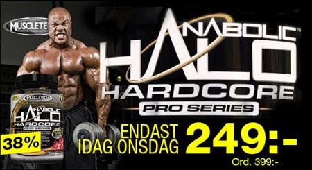 38% av priset på Anabolic Halo Hardcore Pro Series bara idag hos Gymgrossisten!