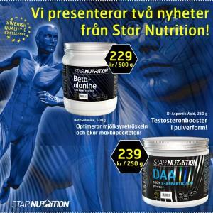 Star Nutrition släpper kosttillskotten Beta-Alanine och D-Aspartic Acid
