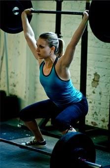 Olympiska styrkelyft är inte helt ovanliga bland mer rutinerade utövare av CrossFit