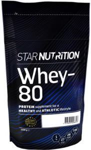 En påse med Star Nutrition Whey-80