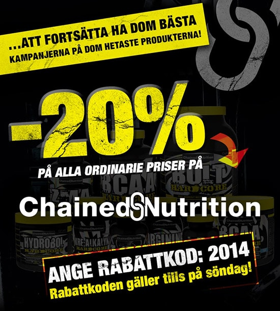 Chained Nutrition rabattkod