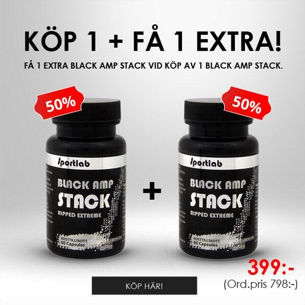 2 för 1 Sportlab Black AMP Stack hos Proteinbolaget