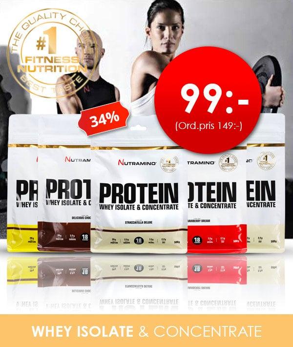 Nutramino Protein Whey isolate för endast 99 kr hos Proteinbolaget