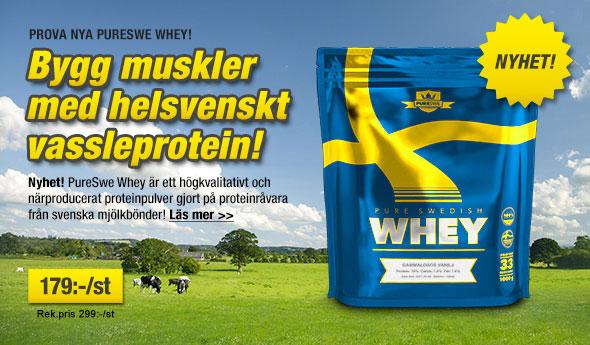 Det helsvenska Whey-proteinpulvret Pure Swe Whey introduceras