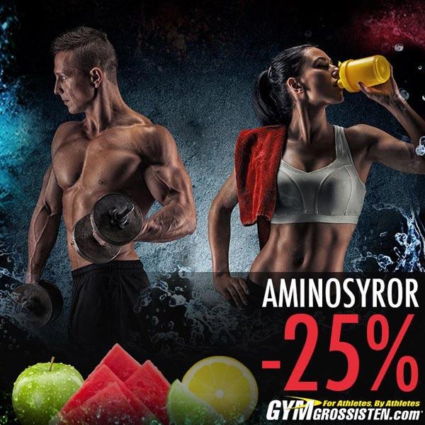 25% rabatt på aminosyror hos Gymgrossisten