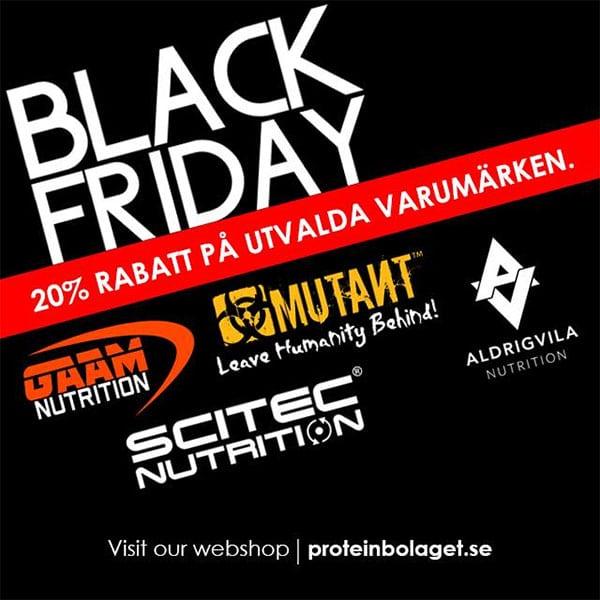 20% rabatt i Black Friday-kampanj hos Proteinbolaget