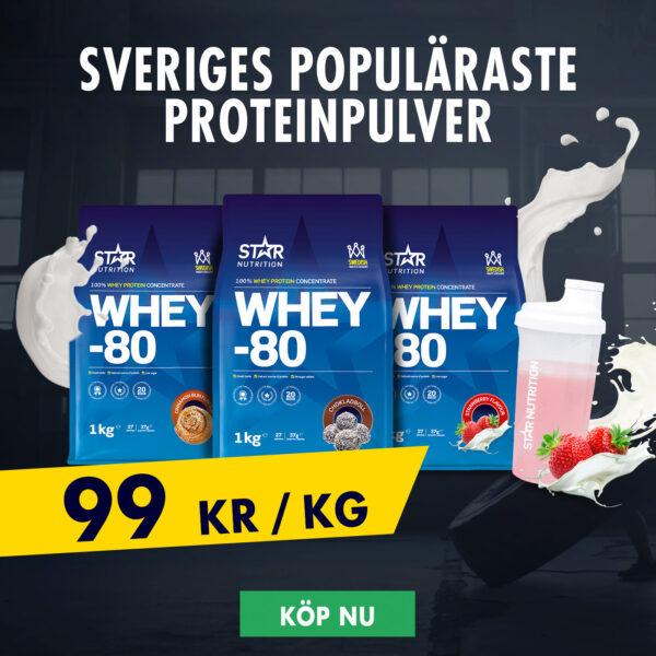 Gymgrossisten Star Nutrition Whey-80 proteinpulver rabatt