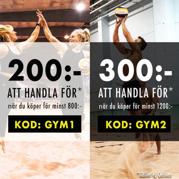 200 eller 300 kr att handla för hos Gymgrossisten med rabattkod maj 2019